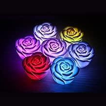 Dcolor Veilleuse a LED Design de rose 7 couleurs romantiques changeantes