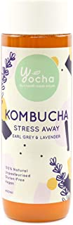 YOCHA Kombucha Stress Away: Earl grey & Lavender, Earl Grey Tea & Lavender, 400 ml - Chilled