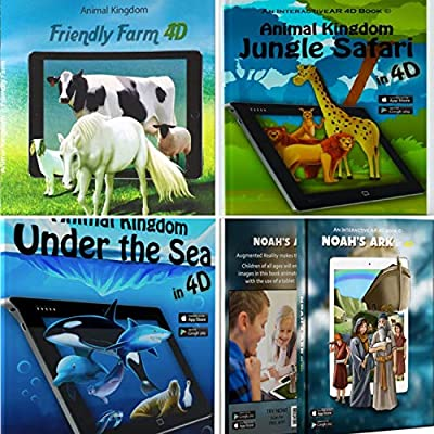 Interactive Books for Children 4D - Noah's Ark, Farm Animals, Jungle Safari or Under The Sea - Choose Your Book and Enjoy a Unique Experience of 3D Image and Sound Supported by Free Mobile Apps by Interactive AR
