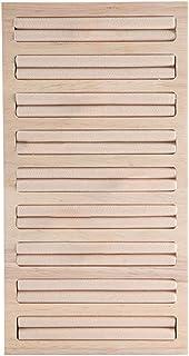 ORETG45 Pendientes Bandeja Aparador Universal Ahorro Espacio Rectángulo Madera bambú Exhibición para el hogar Exhibición D...
