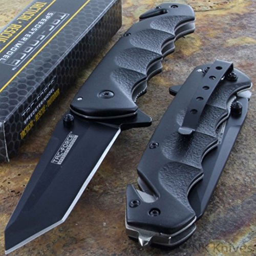 MEselected Tac-Force Black Tanto Blade Spring Assisted...