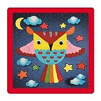[かわいいフクロウ]クリエイティブロープペースト絵画赤ちゃんのDIY工芸のおもちゃ、2のセット