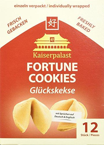 Kaiserpalast Glückskekse, einzeln verpackt rote Folie, 3er Pack (3 x 12 Glückskekse)