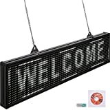 VEVOR Led Sign 38 x 6.5 Inch Digital Sign 96 x 16 HD Resolution White P10 Indoor Led Message Board Digital Display Board Electronic Scrolling Led Sign Programmable by PC & Wi-Fi & USB for Advertising