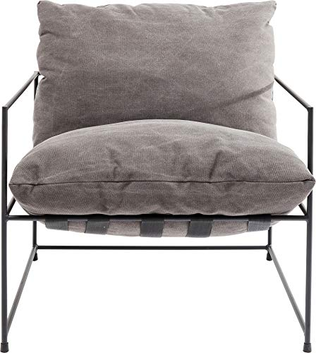 Kare Design Sessel Cornwall, Loungesessel, Armlehnsessel Grau, XXL Sessel, Cocktailsessel, moderner Relaxsessel, Designsessel, Sessel mit Armlehnen, (H/B/T) 90x72x75cm