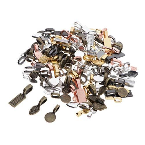 SDENSHI 120 Piezas de Pegamento Ovalado de Bricolaje en Depósito, Pequeña Joyería de Depósito Colgante