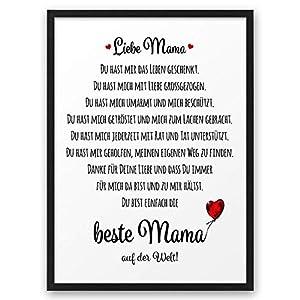 Beste Mama ABOUKI Kunstdruck Poster Bild Geschenk-Idee Mutter Muttertag Muttertagsgeschenk Geburtstag Weihnachten…