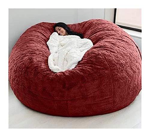 Puf transpirable y cómodo, silla de puf duradera, cómoda, de piel sintética, sofá de piel sintética, sofá cama, puf grande para adultos (sin relleno)