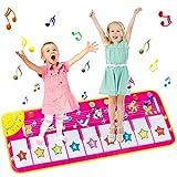 AOYMJRS Bambini Tappetino Musicale, Tappetino da Ballo Pianoforte Musica Pad 8 Animal Voic...