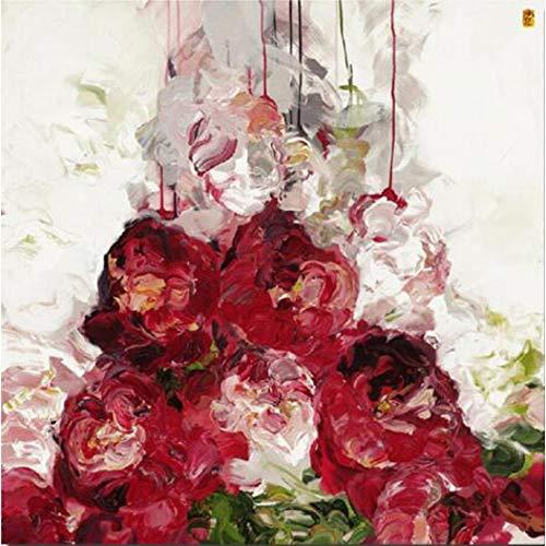 YCOLLC Lienzo de Pintura Flores Painitng Impresión en Lienzo Cuadros Famosos Réplica de Carteles de Pared Abstractos para la decoración de Livingom