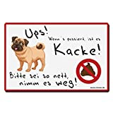 TRIOSK Hundeschild lustig - 20x30 cm thumbnail