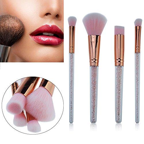 MEIYY Pinceau de maquillage New 4Pcs Diamonds Makeup Brush Set Professional Face Eye Shadow Eyeliner Foundation Blush Lip Makeup Brushes Cosmetics