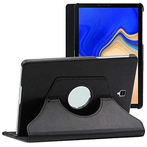 ebestStar - kompatibel mit Samsung Galaxy Tab S4 10.5 Hülle SM-T830, SM-T835 Rotierend Schutzhülle Etui, Schutz Hülle Ständer, Rotating Case Cover Stand, Schwarz [Tab: 249.3 x 164.3 x 7.1mm, 10.5'']