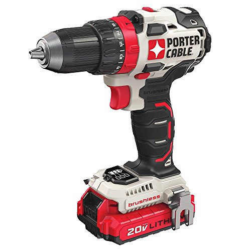 PORTER-CABLE 20V MAX Cordless Drill / Driver Kit, 1/2-Inch (PCCK607LB)