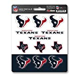 FANMATS NFL Houston Texans DecalDecal Set Mini 12 Pack, Team Colors, One Size