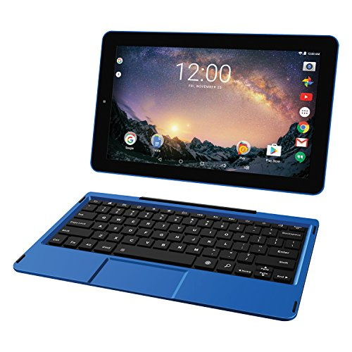 """RCA Galileo 11.5"""" 32 GB Touchscreen Tablet Computer with Keyboard Case Quad-Core 1.3Ghz Processor 1GB Memory 32GB HDD Webcam Wifi Bluetooth Android 8.1 - Blue"""