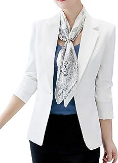 aa1af505b95741 ORANDESIGNE Donna Elegante Manica Lunga Colletto Cappotto Ufficio Business  Blazer Top Gilet Corto OL Carriera Giacca