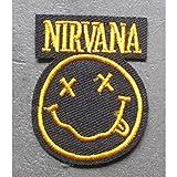 Hotrodspirit–Toppa gruppo pop rock grunge Nirvana giallo 5x 3,5cm stemma termoadesivo giacca camicia