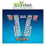 Ecoshirt CH-NCHJ-JUGW Pegatinas Stickers Fork Rock Shox Revelation 2018 Am178 Aufkleber Decals Autocollants Adesivi Forcela, Blanco