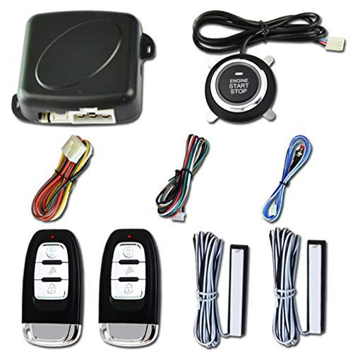 WXZQ Alarma automática Control Remoto Entrada automática sin Llave Arranque del Motor Sistema de Alarma Botón pulsador Arrancador Remoto Parada Auto Negro