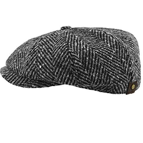Stetson Hatteras - Gorra para hombre, diseño de espiga, Hombre, color Negro...