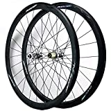 ZNND 700c Front & Rear Wheel Road Racing Bike 40 Mm Deep Wheelset 7/8/9/10/11/12 Speed Freewheel Disc Brake C/V Brake Double Wall (Size : Quick Release)