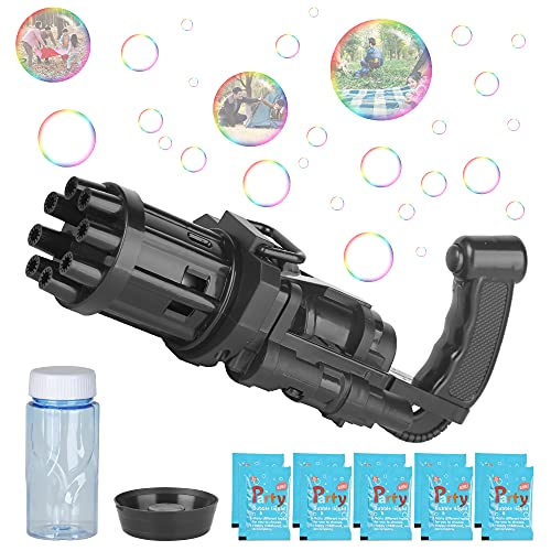 Gatling Bubble Machine 2021 for Toddlers,Cool Automatic Gatling Bubble...