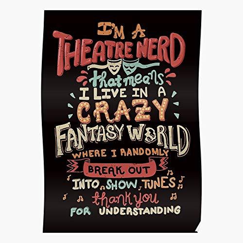 Of Opera Mis Theater Nerd Broadway Theatre Hamilton Phantom Les Musical The Geek Póster de impresión de arte de pared para decoración del hogar !