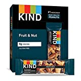 KIND Bars, Fruit & Nut, Gluten Free, Low Sugar, 1.4 Ounce Bars, (Packaging May Vary) (Pack of 12)