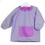 Klottz - Grembiule a poncho, senza bottoni, per neonati e bambini viola Taglia unica