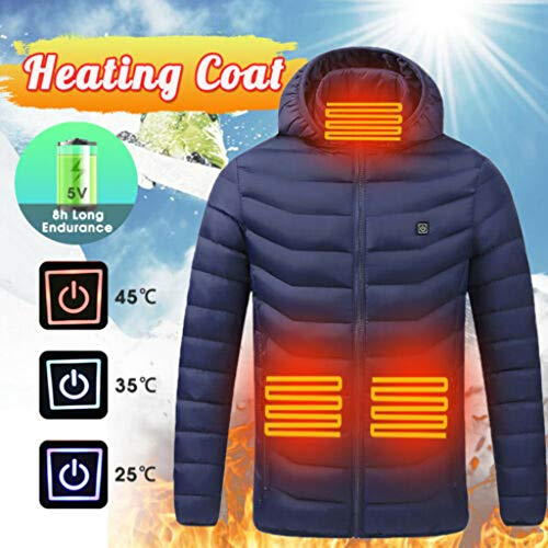 Why Choose Men's Heated Jacket Electric Coat Smart USB Abdomen Back Neck Heated Vest Activewear USB ...