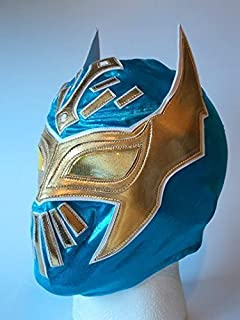 ASHLEYS Wrestling MASK SIN CARA WWE Fancy Dress UP Costume Mexican Childrens Kids Child Outfit Suit Blue