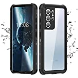 Waterproof Case for Samsung Galaxy S21 Ultra 6.8' 2021. Galaxy S21 Ultra Case with Built-in Screen Protector, Heavy Duty Shockproof Case for Galaxy S21 Ultra 6.8' 5G 2021 (Black, S21 Ultra)