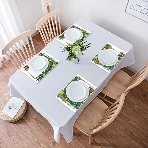 Table Placemats,Set of 4 Placemats,Letter E,Seasonal Holiday Candy Cane Big Star Praying Angel Capitalized Lett,Heat Resistant Heat Insulation Non-slip Washable Dinner Mats for Kitchen and Dining Room