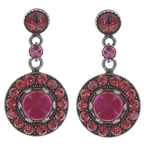 SIMPLY BEAUTIFUL Ohrring | KONPLOTT - Exklusiver Designer-Modeschmuck mit Swarovski Elements | Ohrhänger mit Glitzer-Steinen für Damen in Weiß, Rosa, Rot, Blau, Grün