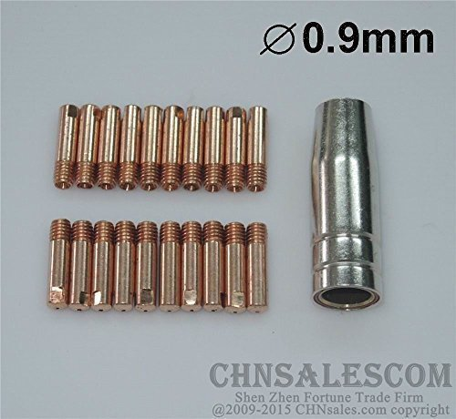 Hitbox 5pcs full copper conical nozzle for MIG//MAG MB24 Binzel torch use CO2 Gas