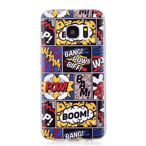 Diseñado específicamente para el Samsung Galaxy S7 Compatible con Todas las compañías. Material:La fantástica funda Crystal-Case de TPU es flexible, y no oloroso . ultra-fina, durable. Durable de alta calidad para una mejor absorción de golpes, resba...