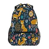 ZZKKO Funny Animal Fox Boys Girls School Computer Backpacks Book Bag Travel Hiking Camping Daypack