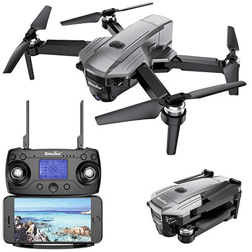 Simulus Drone: Faltbarer GPS-Quadrocopter mit Brushless-Motor, 4K-Cam, WLAN und App (Drone GPS)