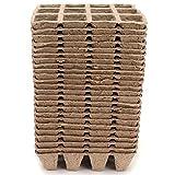 Eosnow Bandejas de germinación, Semillas, macetas de turba, Permeabilidad al Aire Biodegradable, Papel Reciclado, bandejas de Inicio de Semillas, Buena absorción para el Cultivo doméstico