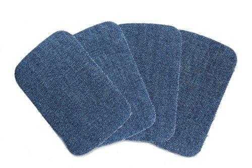 dalipo 05002 - Aufbügelflicken - Jeans 4er Pack, blau