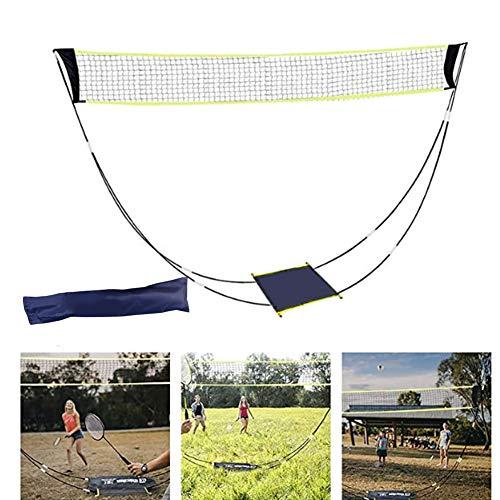 Tragbares Outdoor Faltbares Badmintonnetz, Tennis Volleyball Netz Ständer Set Strandsport Schnelle Installation dauert nur 10S, um das Spiel zu starten