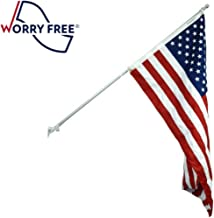 3x5' Worry Free US Flag Super Set- Includes Pole, Bracket and American Flag to Display The US Flag!