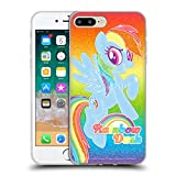 Official My Little Pony Rainbow Dash Rainbow Vibes Soft Gel Case Compatible for iPhone 7 Plus/iPhone 8 Plus
