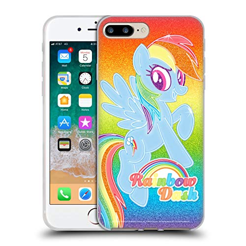 Head Case Designs Officially Licensed My Little Pony Rainbow Dash Rainbow Vibes Soft Gel Case Compatible with Apple iPhone 7 Plus/iPhone 8 Plus