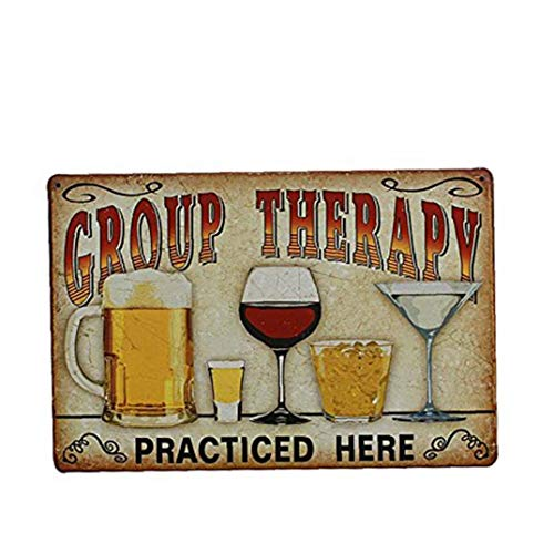 Wine Glass Painting Metal Tin Sign Art Wall Sign Retro Vintage Tin Sign Art Poster Plaque for Bar Bedroom Living Room Decor 20 * 30cm Home Gardening Decoration