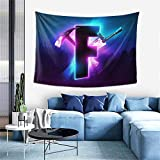 Purple Blue Game Logo Tapestry Video Battle Game Tapestry Wall Hanging For Living Room Bedroom College Dorm Room Home Inhouse Decor