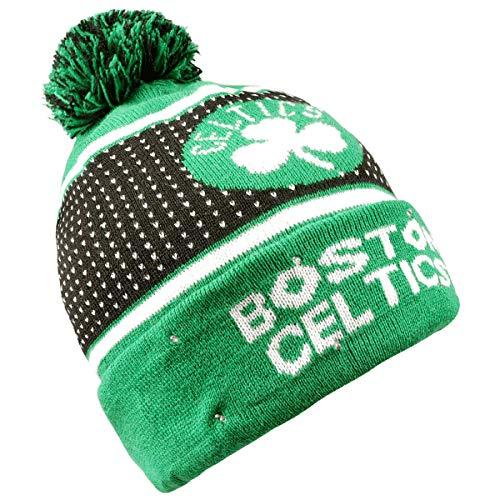FOCO Boston Celtics 2018 Big Logo Knit Light Up Beanie