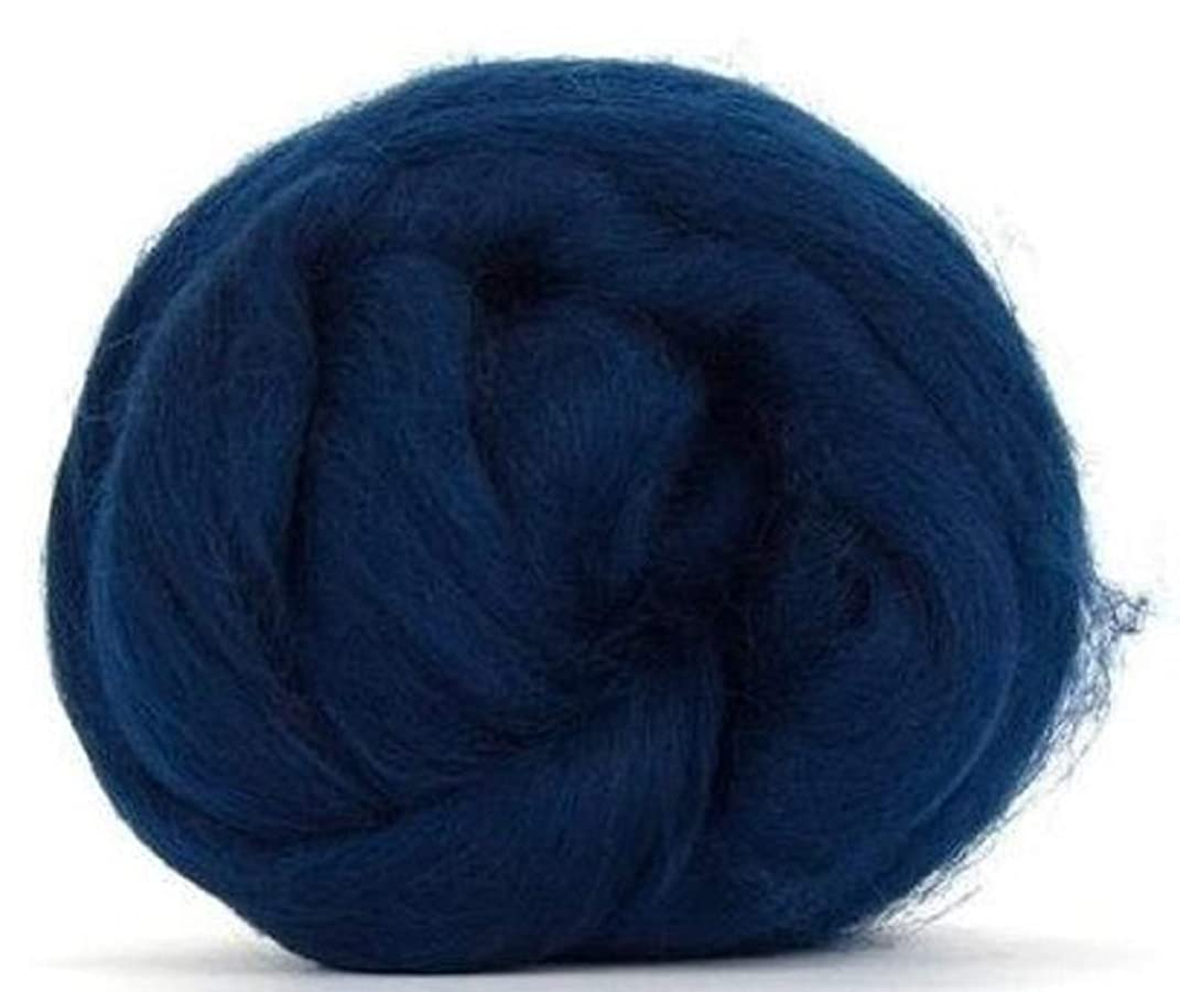 4 oz Paradise Fibers 64 Count Dyed Ocean (Blue) Merino Top Spinning Fiber Luxuriously Soft Wool Top Roving for Spinning with Spindle or Wheel, Felting, Blending and Weaving