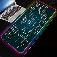 ゲーミングマウスパッド数式RGBゲーミングマウスパッドLEDコンピューターキーボードパッド、14の照明モードを備えた特大の光るLEDマウスパッドマウスマット-RGB_300x600mm